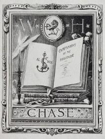 """""""美国藏书票黄金时期五大家""""— 史密斯(Sidney L. Smith)铜版藏书票 1909怀旧作品"""
