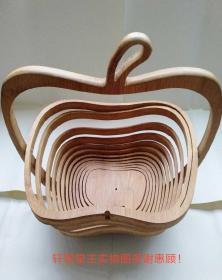 折叠式 竹篮