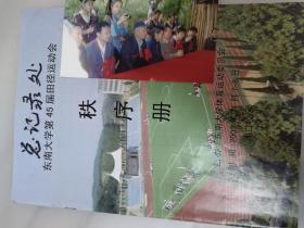 2003年东南大学第45届田径运动会秩序册 40页、浦口校区