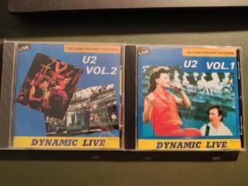 u2 bootleg 罕见cd,非卖品。现场演出,一套2张。每张40