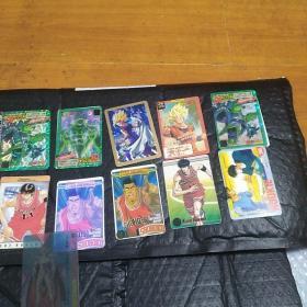 七龙珠灌篮高手卡14张 一张塑料圣斗士卡