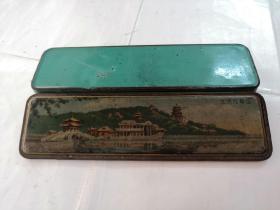 老文具盒(北京万寿山全景,铅笔盒)(品相如图)