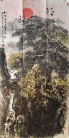 著名画家吴其祯先生《松鹤延年图》山水画精品