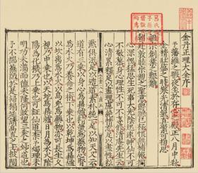 【复印件】古籍善本、明嘉靖十七年周藩刻本:金丹正理大全