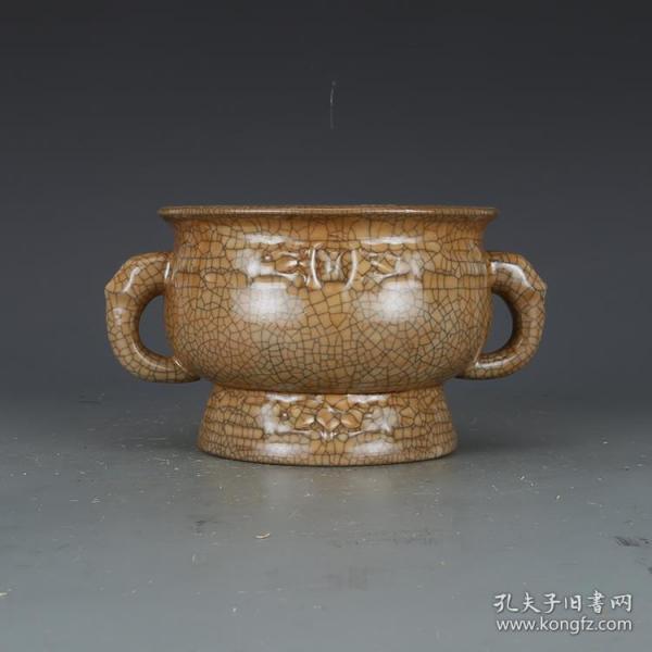宋哥窑酱釉香炉 瓷器古董古玩收藏五大名窑
