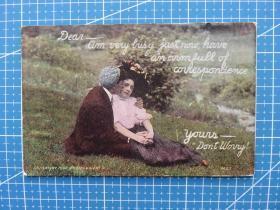 驿马递雁--美国与欧洲贴邮票早期实寄明信片--手账外国邮政收藏集邮复古彩色明信片