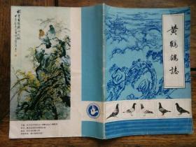 信鸽专业书《黄鹤鸽志》创刊号,周华琴题写刊名,陈志宏作封底画。