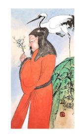 中美协会员王寿石新制《寻梅伴鹤图》精品一帧