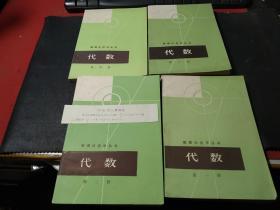 数理化自学丛书:代数  全四册   无字迹