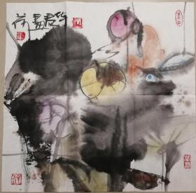 当代著名画家周华君展览精品八开册页一幅(08保真)