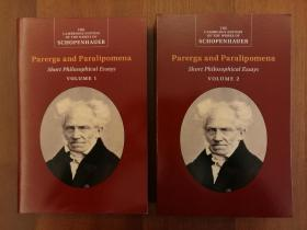 Schopenhauer: Parerga and Paralipomena: Volume 1, Volume 2: Short Philosophical Essays (上、下两卷合售)(实拍书影,国内现货)