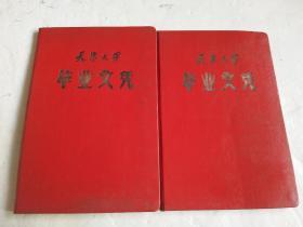 60年代毕业证2本合售:天津大学 毕业文凭(空白,未用