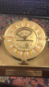 上海金信证券研究所有限责任公司成立一周年志庆1999-2000 黄铜摆件