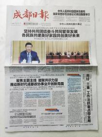 成都日报,2019年9月28日。全国民族团结进步表彰大会。中华人民共和国大事记(28版全)