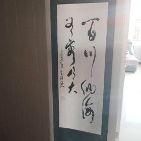 俞祺德书法 百川纳海有容乃大 画心92Ⅹ32厘米 附书法作品集《养生之道》