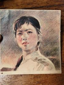 文革时期——蜡笔画——人物 ——1