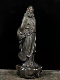 檀木雕刻达摩祖师站像 特价包邮