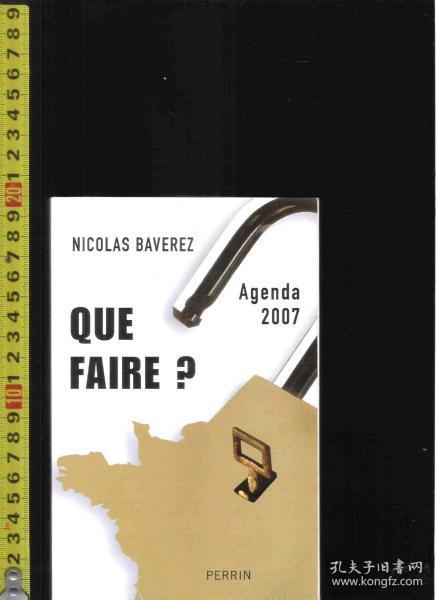 【优惠特价】原版法语书 Que faire ? / Nicolas Baverez【店里有许多法语原版书刊欢迎选购】