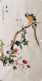 【保真】国家一级美术师、知名画家李玉夕作品:春韵