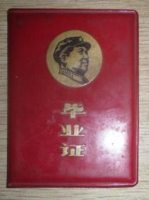 1969年湖北省汉川县职业中学毕业证(有毛像和林题)