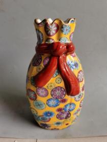 古董古玩清代五彩瓷瓶