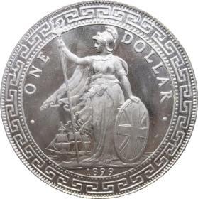 银元银圆英国香港站人贸易银站洋1899年