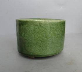 清代绿釉炉