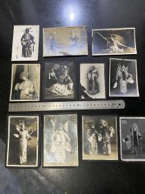 民国时期京剧名角戏装造型系列老照片11张非常少见全是名角坤角