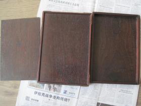 日本购回,文房红木砚盒,完整无磕碰(尺寸长23宽17高5)