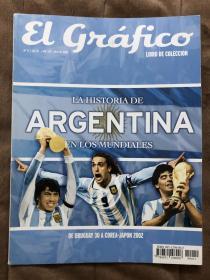 原版足球画册 阿根廷国家队  世界杯故事1930-2002