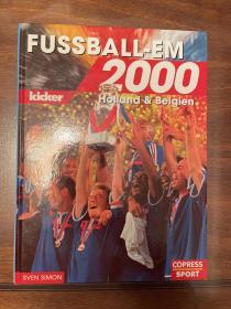 2000欧洲杯足球画册 踢球者原版世界杯画册 赛后特刊 包邮快递