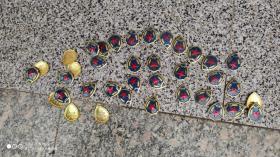 老肩章领章领花;铝质肩章36个合售