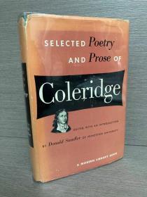 Selected Poetry and Prose of Coleridge(《柯勒律治诗文选》,经典Modern Library,难得初版本,布面精装带护封)