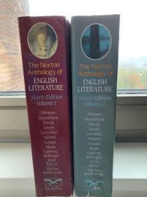 The Norton Anthology Of English Literature Sixth Edition volumes I and II 两册全 圣经纸印制 巨厚重