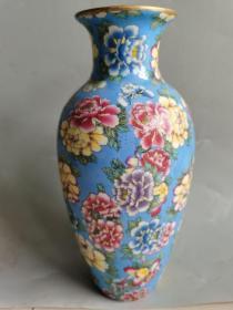古董古玩瓷器清代五彩瓷瓶