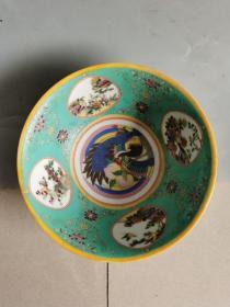 古董古玩老瓷器清代五彩瓷碗