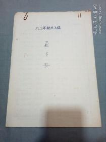 1983年新兵入伍花名册(浙江省仙居县、玉环县)