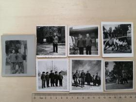 文革时期,老照片7张齐售,机关大院,老四合院,长城,哈尔滨等地