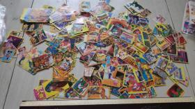 上世纪80年代黄边贴纸卡通动漫散张一组圣斗士街头霸王变形金刚等200多。第拾壹组