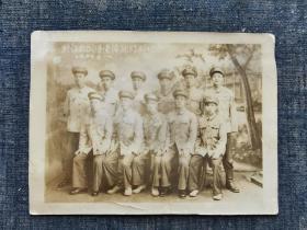 1954年江西萍乡训练团纪念【老照片】 军衣 军帽  军装照  品相如图