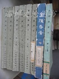金陵春梦(1、2、3、4、5、6、7、8大江东去)8册全、上海版(7是北京版)【见描述】