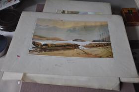 50年代各地方风景写生---嘉陵江之一,嘉陵江之二----樊明体