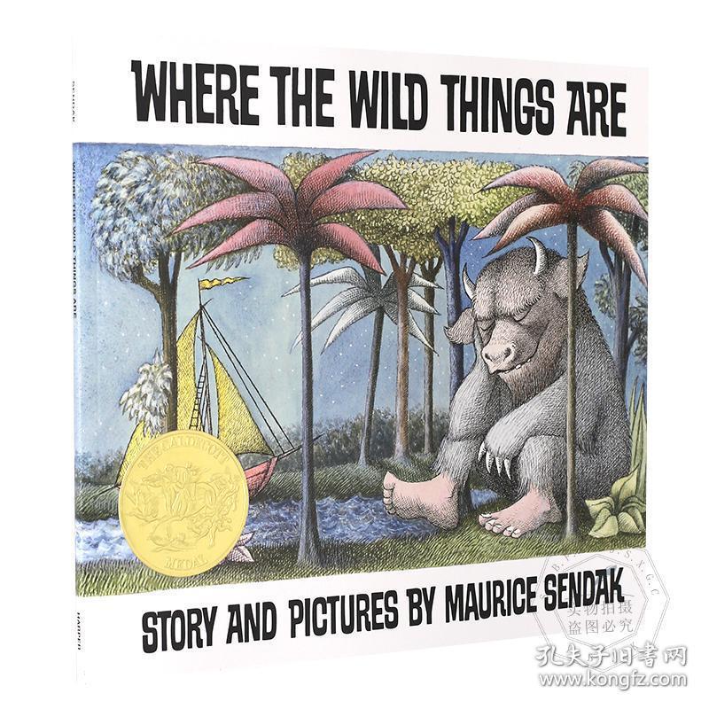 野兽国 英文原版童书 Where the Wild Things Are 野兽出没的地方 凯迪克金奖绘本 美国百本必读 4-8岁启蒙 莫里斯桑达克 吴敏兰