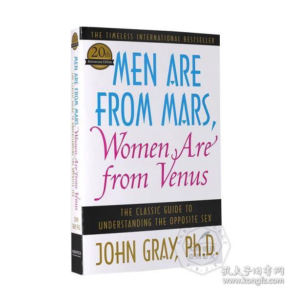 男人来自火星 女人来自金星 英文原版 Men are from Mars Women are from Venus 两性关系研究 心理学专家约翰格雷 John Gray 平装