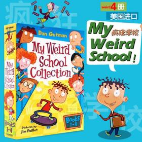 疯狂学校第一季1-4册盒装 英文原版 My Weird School Collection 小学英语课外阅读教材 初级经典章节桥梁故事小说书 进口书 平装