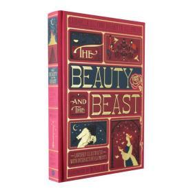 美女与野兽 立体书 英文原版 全彩复刻插图版 Beauty and the Beast 迪士尼童话电影同名原著 哈利波特和神动图画书工作室设计插图