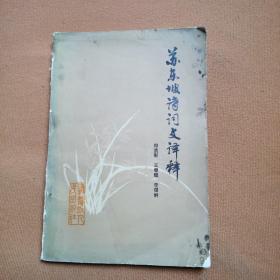 苏东坡诗词文译释