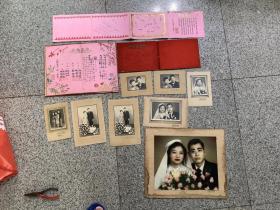 一个人的结婚订婚证书和照片