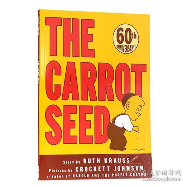 英文原版童书 The Carrot Seed 胡萝卜种子 美国百本绘本书单 吴敏兰书单 绘本123 大开平装60周年版图画故事书 亲子英语启蒙认知