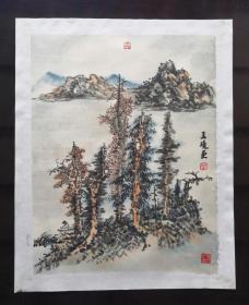 王晓山水,香港画家协会主席刑少臣弟子